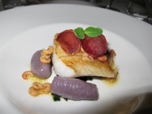 David Colcombe's pollack fish course
